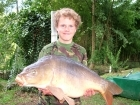 Daniel Smith 22lbs 5oz Mirror Carp from Etang de Cosse using Solar Club Mix (Squid & Octopus, Stimulin and Anchovy).