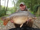 Lee Bundock 34lbs 1oz Mirror Carp-Split from Rookley Country Park using TB FEEDS.
