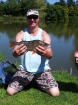 2lbs 4oz 1dr Perch from lincolnshire campsite. target fish of the day...
