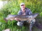 Wally Pickering 21lbs 1oz 1dr pike from river idle. river idle pike 21lb 1oz on deadbait popped up..