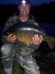 15lbs 2oz 1dr carp mirrow from river idle. my first double figured river idle. carp, hair rigged six sweetcorn