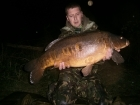 24lbs 8oz Carp from slipe lane pits using Premier baits.. Fishing to snags on adjacent bank in approx. 6-7ft (weedy)