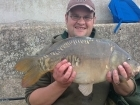 Nathan Harrison 12lbs 4oz mirror carp from Drayton Reservoir using Fishing Wizard.. first fish of the day a loverly mirror