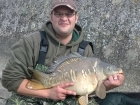 Nathan Harrison 8lbs 7oz mirror carp from Drayton Reservoir using Fishing Wizard.. second fish