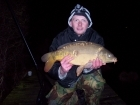 Aden James Hodges 11lbs 1oz Mirror Carp from Drayton Reservoir using dynamite.