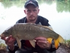 8lbs 6oz Common Carp from longford fisheries using green giant.