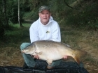 Ian Brentnall 39lbs 11oz Mirror Carp, Mainline Active-8.. My last rod still in the water but I was sure something would happen. Had an Acitve 8 snowman on an adapted KD rig with a size 8 hook, inline