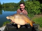 Linda Miller 42lbs 0oz Mirror Carp from millers french fishing holidays- Etang Hirondelle