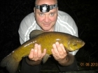 4lbs 14oz Tench from Local Syndicate using Mainline Sticky Toffee pop up dumbells.