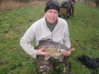 Clive Wells 13lbs 0oz Mirror Carp. Caught on sweetcorn on ledger.