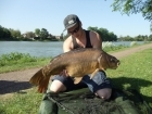 24lbs 0oz Mirror Carp from Stowe Pool. Stalking in the margins