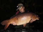 21lbs 0oz Mirror Carp from Penns Hall. Fishing tight to the far bank using solid bags full of