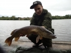 Sam Burley 8lbs 0oz Pike from Earlswood Lakes. Reeling in my boilie this greedy bugger decided he wants a piece