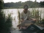 18lbs 6oz Mirror Carp from Fishawick. Stalking in the margins