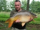 22lbs 7oz Mirror Carp from Etang de Cosse using Solar Club Mix (Squid & Octopus, Stimulin and Anchovy).