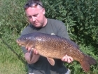 Kieron Axten 14lbs 8oz Common Carp from Willesley Lake using Fake dog biscuit (squidgy).. 2 fish from and lost one. Nothing on Grange through the night, but 2 and last one on zigs in the day. 6lb and