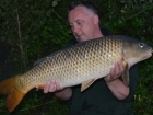 18lbs 11oz Common Carp from Mas Bas - Angling Lines Holidays using Quest Baits Rahja Spice.