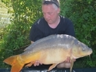 24lbs 15oz Mirror Carp from Mas Bas - Angling Lines Holidays using Quest Baits Rahja Spice.