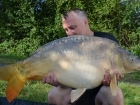 34lbs 5oz Mirror Carp from Morgane - Bigot Lakes using Mainline Cell.. Open Water