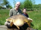 46lbs 8oz Mirror Carp from Golden Oak Lake - Angling Lines Holidays using Quest Bait  Ghurkka Spice Flouro Pop Up.. Caught fishing towards far margins in 3 feet of water.