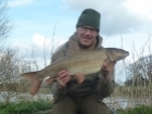 Paul Fletcher 12lbs 6oz Barbel. River looking good after recent rain. Arrived at 10.30pm and took the fish ok my 2nd cast which was down side of overhanging tree. Fish fought like a demon & was happy