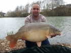 Jeremy Hicks 29lbs 8oz carp from Rookley Country Park
