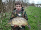 William Fletcher 11lbs 3oz Common Carp from Birch House Lakes using Quest Bait Special Crab +.. Caught by casting to far margin. Simple ledger tactics - Korda 2oz lead, ESP Safety rig and Kryston