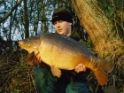 25lbs 0oz Carp from Castlemere using Mainline Pineapple.. Freezing cold!