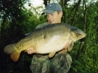 24lbs 0oz Carp from Castlemere. Surface caught, size 8 drennan super specialist, 8lb Berkley XL