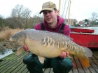 Mick Sumner 19lbs 0oz Mirror Carp from Drayton Reservoir using Solar dairy cream.. Single pop-up