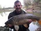 Dan Glover 11lbs 4oz Mirror Carp from Fletchers. using method feeder