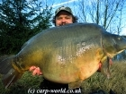 Tony Davies-Patrick 58lbs 2oz Mirror Carp from Tortue Lake using Nashbait Shellfish.