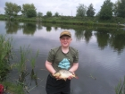 Lucas Haslam 2lbs 0oz Common Carp from Walgherton Waters. caught on corn feeder fished