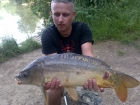 Tom Tank 11lbs 8oz Mirror Carp from Dyffryn Springs using Nash Amber Strawberry.