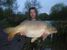 Paul Fox 28lbs 0oz Common Carp from Hawkhurst Fish Farm using Dynamite.. spotted active carp and stuck rod on it.