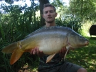 Paul Fox 20lbs 0oz Mirror Carp from Hawkhurst Fish Farm using Mainline.. early evening bottom with boilies with only a handful of other boilies