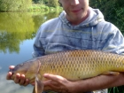 Steven Spilsbury 14lbs 1oz carp from Pool Hall Fisheries using dynamite baits.