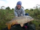 Kirsty Barnett 21lbs 0oz carp from Bain Valley Fisheries using sensas.