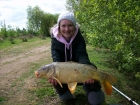 Kirsty Barnett 11lbs 0oz carp from Bain Valley Fisheries