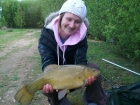 Kirsty Barnett 3lbs 8oz Tench from Bain Valley Fisheries