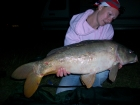 Kirsty Barnett 17lbs 0oz carp from Bain Valley Fisheries using starbaits crayfish and mussell.