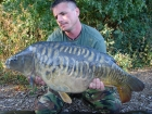 Essex Carp Baits 26lbs 10oz Mirror Carp from Aquatels Carp Fishery using Essex Carp Baits C.I.A Chocolate Intense Amino.