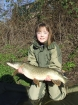 Essex Carp Baits 10lbs 0oz Pike from Aquatels Carp Fishery using Rapala.. 4 inch Minnow Lure fished along the edge of ice behind the island.