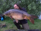 Essex Carp Baits 37lbs 8oz Mirror Carp from Cleverly Mere using Essex Carp Baits Pineapple Perils.