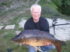 Robin Yeomans 25lbs 7oz Mirror Carp (Fully Scaled) from Willow Pool using G.B.Baits   fish base mix... Caught from the left peg of triple