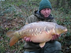 John Morley 21lbs 0oz Mirror Carp from Rookley Country Park using carp company.. winter