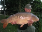 John Morley 35lbs 4oz Mirror Carp from Rookley Country Park using carp company.. rosie i also had an 18lb mirror at the same time