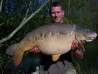 Kristian Horlock 37lbs 8oz Mirror Carp from Rookley Country Park