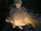 Colin Meneaud 54lbs 4oz Mirror Carp from Sweet Chestnut Lake using SuperU Bien Vu.. Caught in the margins with a light Garbolino Trout Rod and small Shimano fixed spool reel loaded with 9.6lb