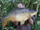 30lbs 14oz Mirror Carp from Rookley Country Park